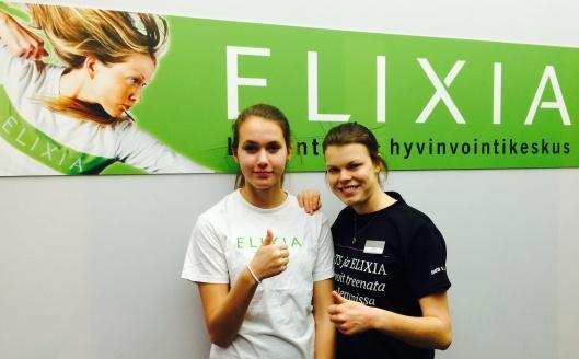 Harjoittelija ja sen apulainen Sofia ja Pihla