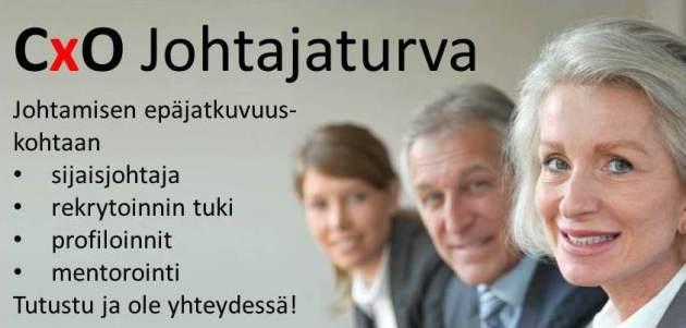 CxO Johtajaturva banneri