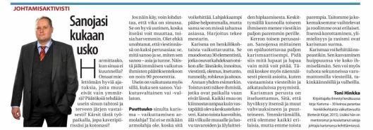 KU Johtamisaktivisti Sanojasi Kukaan usko 2015-08-19